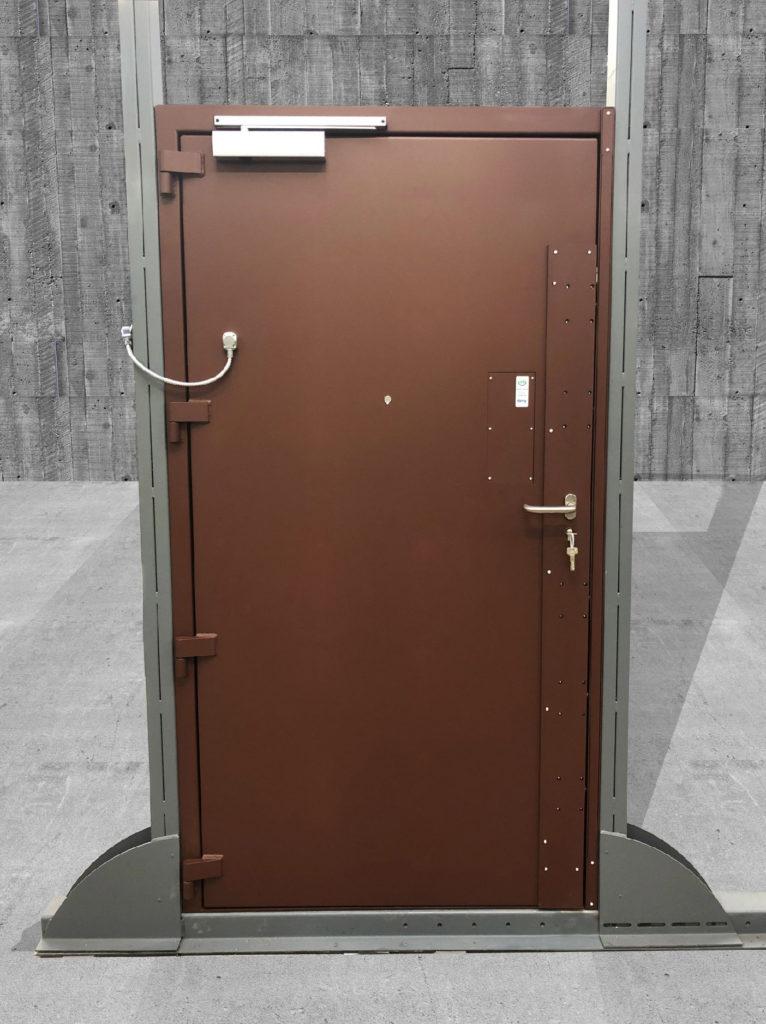 Toltec - tôlerie industrielle au service de la sécurité - Porte SECURE DOOR SD5 est certifiée CR5 selon la norme Européenne EN 1627-1630, serrure motorisée 5 Points DENY LSS