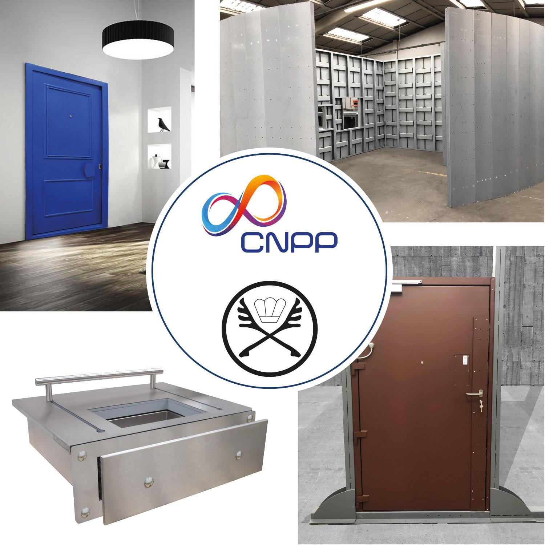 TOLTEC SECURE - certifications CNPP et BNE portes blindées CR4 et CR5, parois blindées CR4 et CR5 et passe documents FB4, FB§ et FB7.
